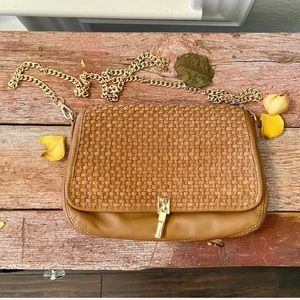 Elizabeth and James woven leather chain crossbody